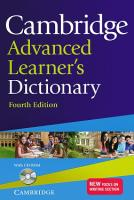 Cambridge Advanced Learner's Dictionary 4th Edition + CD