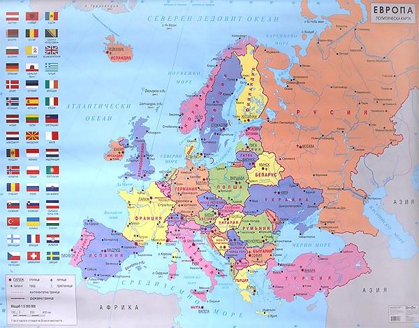 Knigimechta Com Stenna Politicheska Karta Na Evropa Datamap